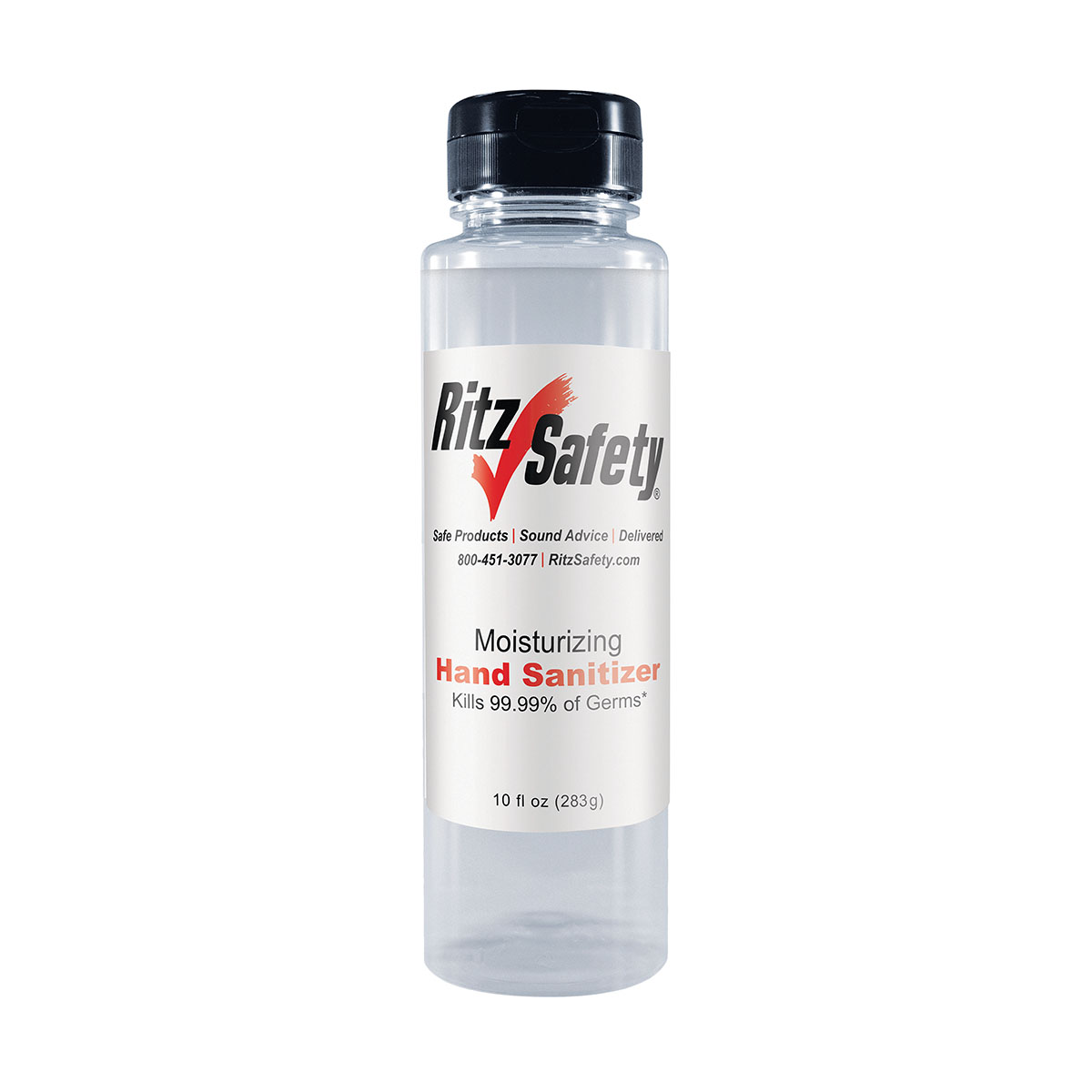 RTZHANDSAN10OZ - Hand Sanitizer Front of Bottle